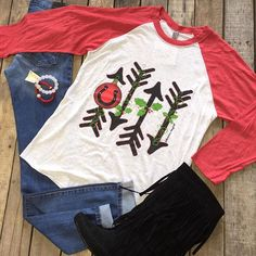 """How cute is this?! #Christmas #Raglan $49.99 S-L #FlyingMonkey #HighWaisted $59.99 25-28 #FringeBoots $46.99 6.5-7.5 #Bracelets $19.99 We #ship! Call to order! 903.322.4316 #shopdcs #goshopdcs #shoplocal #love"" Photo taken by @daviscountrystore on Instagram, pinned via the InstaPin iOS App! http://www.instapinapp.com (11/07/2015)"