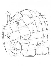 Elmer Elephant Coloring Sheet
