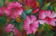 Resultado de imagen para cuadros con flores rojas y blancas