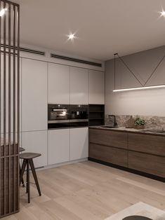 Apartment modern interior woods 50 Ideas for 2019 Kitchen Room Design, Modern Kitchen Design, Home Decor Kitchen, Modern Interior Design, Interior Design Living Room, Home Kitchens, Kitchen Ideas, Townhouse Interior, Apartment Kitchen