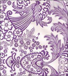Toile Purple Oilcloth.