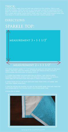 elsa dress tutorial step by step 2 (the sparkle top)