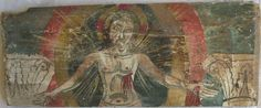 """TAVOLA X ter cm 43,5 x 17,4 x 2,3 CRISTO CROCEFISSO Il retro del legno di questa tavola è in discrete condizioni, sono presenti alcune spaccature e in un angolo manca una scheggia, inoltre si evidenziano delle gallerie """"a tarlo lungo""""; la pellicola pittorica è sottile, abrasa, fragile là dove l'imprimitura è più spessa. Figura di Cristo frontale, con nimbo crociato, raggiante; le stimmate grondano sangue, porta la corona di spine e ha l'attitudine del crocefisso, ma gli occhi sono aperti. I…"""