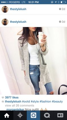Cute look hAve to find sweaters like this.