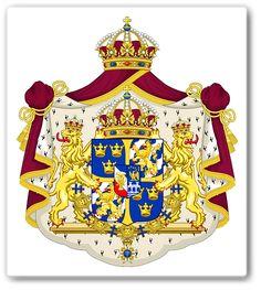 Sveriges stora riksvapen är krönt med den regerande dynastins vapen i mitten. Riksvapnet har haft samma utseende sedan det skapades av kung Karl Knutsson Bonde på 1440-talet. Huvudskölden består av två fält med tre kronor och två fält med Folkungaättens kännemärken.En vida spridd symbol.Tre kronor finner du i svenska & danska riksvapnets även i den irländska provinsen Munsters flagga, tillsammans med en bok i vapnet för Oxfords universitet & i den ryska staden Viborgs flagga & vapen.