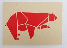 origami birds stencil - Buscar con Google