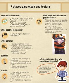 """Tarea 3.3 Tu propio manifiesto """"7 claves para refinar la mirada"""". María Dolores Mateos Blazquez ha creado una eficaz infografía para ayudar a los alumnos a elegir una buena lectura"""