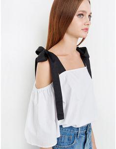 Black Strap Off the Shoulder Top