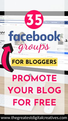 35 Facebook groups for bloggers: Promote your blog for free. Promote your blog in these must-join Facebook groups. Ask questions, establish valuable connections with fellow bloggers, and contribute to the blogging community. Grow your blog traffic with these Facebook groups for bloggers. #facebookforbloggers #promoteyourblog #facebookgroupsforbloggers #bloggingtipsforbeginners