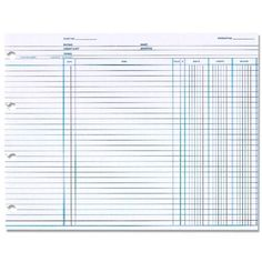 """Amazon.com : Balance Ledger Form, 3 Columns, 7-1/2""""x10-3/8"""", 100/PK, WE, Sold as 1 Package : Ledger Sheets : Office Products"""