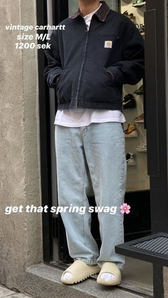 Indie Fashion Men, Black Men Street Fashion, Streetwear Fashion, Indie Outfits, Retro Outfits, Cool Outfits, Casual Outfits, Mens Clothing Styles, Aesthetic Clothes