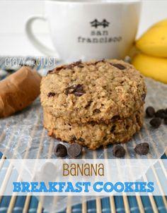 Banana Breakfast Cookies by www.crazyforcrust.com #breakfast #cookie @crazyforcrust