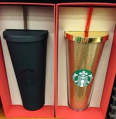 SOLD ➕Matte Black Starbucks cup Brand new in box. Only opened to take pictures. Starbucks Other Copo Starbucks, Starbucks Tumbler, Starbucks Drinks, Starbucks Gold, Starbucks Recipes, Hot Coffee, Coffee Cups, Cute Cups, Mug Cup