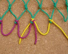 (Edited from my original article which appeared in Knotting Matters June A Stacked, Interlaced Mesh Bend & Variation, for us. Fishing Hook Knots, Net Making, Survival Knots, Rope Knots, Any Book, Cool Names, Plant Hanger, Twine, Weaving