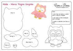 Mother & Daughter Crafts: Page Marker-Misc Templates Felt Owl Pattern, Felt Animal Patterns, Owl Patterns, Applique Patterns, Stuffed Animal Patterns, Felt Templates, Applique Templates, Card Templates, Felt Owls