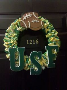 USF Wreath-would love this with smaller letters!