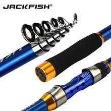 US $9.18 JACKFISH High Quality Carbon Fiber Telescopic Fishing Rod blue Sea Fishing Pole 2.1/2.4/2.7/3.0/3.6m pesca. Aliexpress product