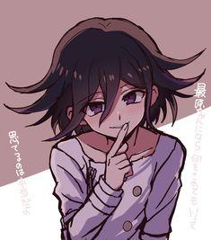 Image result for kokichi shush face