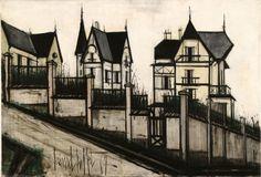 Bernard Buffet - villas à st Cast - 1967