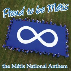 The Métis flag is the infinity sign on either a blue or red background. Riel hung this flag from Fort Garry during the Red River Resistance of It symbolizes the infinite survival of the Métis people. Native Indian, Native Art, Native American Indians, Aboriginal People, Aboriginal Art, Aboriginal Education, All About Canada, Black Canadians, Indigenous Education