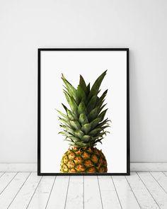 Pineapple Art Kitchen Poster Pineapple Photo Fruit Print