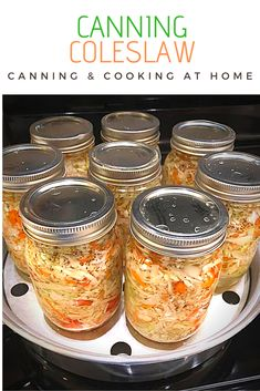 Pressure Canning Recipes, Home Canning Recipes, Cooking Recipes, Canning Cabbage, Pickled Cabbage, Pickled Eggs, Canning Lids, Easy Canning, Canning 101