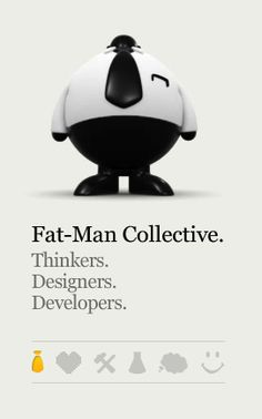 The fat man walks when you scroll! www.fat-man-collective.com - Silly but fun :)