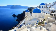 Santorini -Greece! I really want to go here at some point in my life!