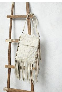 Diamond Desert Crossbody | Free People luxe leather crossbody featuring allover beautiful bead detailing and statement fringe.