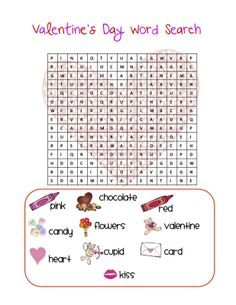 Valentine's Day Logic Puzzles Printable. Classroom Freebies Valentines Day Word Search
