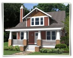 Bungalow House Plans From Home Patterns. Your source for exceptional bungalow plans, bungalow style house plans, and bungalow home plans. Bungalow Style House, Small Bungalow, Cottage Style House Plans, Bungalow Homes, Bungalow House Plans, Craftsman Style House Plans, Bungalow Ideas, Cottage Ideas, Craftsman Cottage