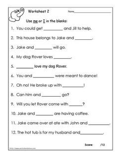 Then Vs Than Worksheet 2 | Homeschool ELA and Writing | Pinterest ...