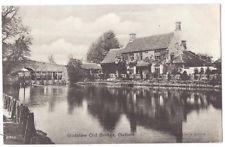 GODSTOW Old Bridge, Oxfordshire, Old Postcard by Valentine unused