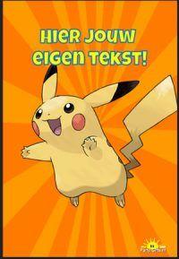 Op zoek naar Pokemon go uitnodiging? Met deze werktekening maak je Pokemon go uitnodiging met eigen foto en tekst en print je het direct gratis zelf uit op party-gifts.nl.