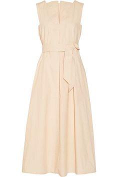Lemaire - Belted Cotton-poplin Midi Dress - Beige - FR40