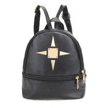 Mara S Dream 2017 Women Backpack Pu Leather Rivet College Wind Backpacks For Age Las Black Zipper Bags