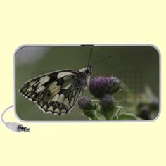 http://www.zazzle.com/marbled_white_butterfly_on_thistle_speaker-166337735599491113?gl=Rosemariesw=238739306683447883  Marbled White Butterfly on Thistle Ipod Speaker