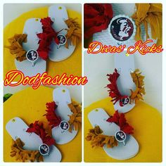 Calling all Florida State University's fans! Step out in style representing FSU! This is a fresh design of Divas' Kicks just in time for summer fun. These Divas' Kicks can be customized to any theme or team. More team will follow! #Dodfashion #divasofdestinyinc #FSU #floridastateuniversity #FL #seminoles #