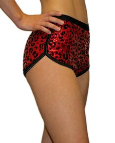 animal print roller derby clothing hot pants High waisted shorts burlesque costume fitness wear leopard print pole dancing