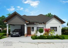 Narrow Lot Two Storey House Plan with 4 Bedrooms - Cool House Concepts Two Storey House Plans, One Storey House, My House Plans, Modern Bungalow House, Bungalow Exterior, Bungalow House Plans, Tiny House, Modern Houses, Three Bedroom House Plan