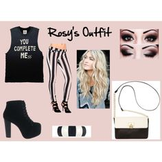 """""""Rosy's Outfit"""" by fieqa-aziz on Polyvore"""