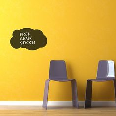 Cloud Chalkboard Sticker (Pack of 2) Need to leave notes or write errands but don't want to make the wall dirty or the fridge full of sticking magnets? Try these chalkboard and experience the convenience of easy writing and wiping messages from different surfaces in your house. As long as you have dry and smooth surface on the walls or furniture, you can easily stick the chalkboard stickers where you can write notes using a piece of chalk! http://walliv.com/cloud-chalkboard-sticker