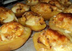 Hungarian Recipes, Garlic Bread, Light Recipes, Baked Potato, Muffin, Food And Drink, Potatoes, Baking, Breakfast