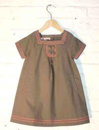 Robe encolure carré kaki by Loppa