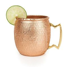 Old Kentucky Home Hammered Copper Moscow Mule Mug by Twine – (16 oz. capacity) -Food Safe, Nickel Plated Review