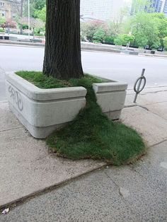 Grass Spills planters by Sean Martindale.