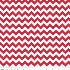 Tissu knit small chevron red x 10cm