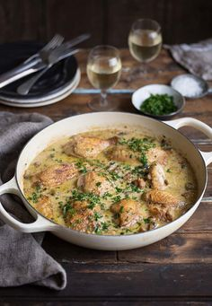 I have been wanting to make a coq au Chardonnay for so long, and after a fair amount of research into the recipe, I had a clear idea how I was going to approach it. I wanted to make a white wine ve…