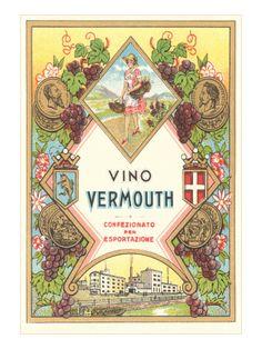 Italian Vermouth Label Premium Poster