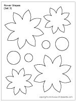Ten free printable flower shape sets to use as craft patterns, coloring pages, or for flower-themed crafts and learning activities. Free Paper Flower Templates, Felt Flower Template, Felt Flower Tutorial, Leaf Template, Templates Printable Free, Flower Template Printable, Owl Templates, Crown Template, Butterfly Template